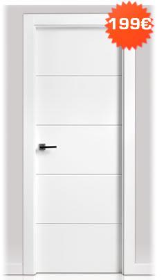 Puertas baratas en madrid tienda de puertas armarios y - Puertas lacadas blancas precios ...