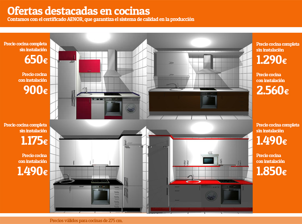 Ofertas en cocinas en ch decora for Muebles de diseno baratos madrid