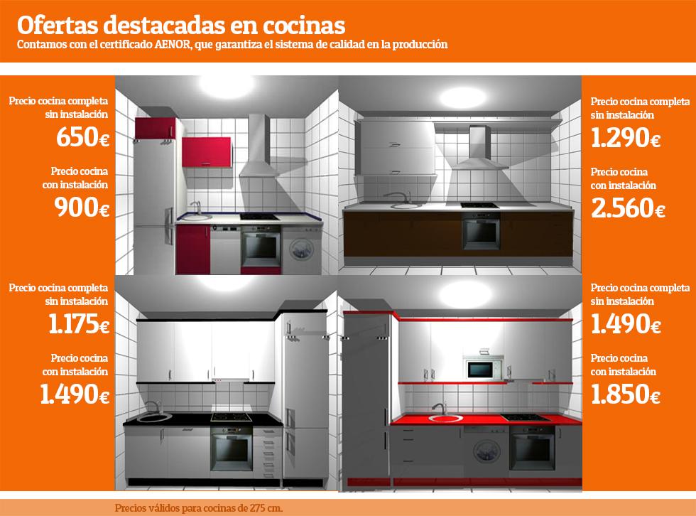 Ofertas en cocina cocina completa muebles de cocina for Muebles de cocina y precios