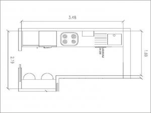 Cocinas dise o madrid comprar cocina cocinas a medida for Planos de cocinas 4x4