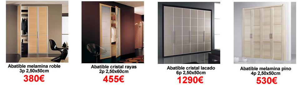 Armario con puertas abatibles a precio baratos