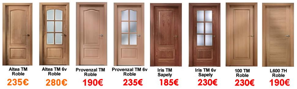 Ofertas en puertas modernas cl sicas y lacadas descuento en puertas blindadas y acorazadas - Precio puertas interior colocadas ...