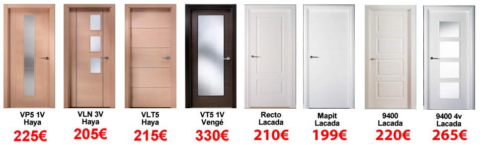 Ofertas en puertas en ch decora for Puertas de interior modernas precios